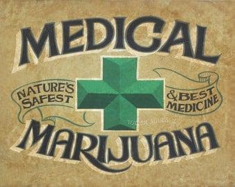 Medical Marijuana Dispensary  Print ,canabis art