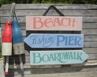 Beach  Sign   Bundle, hand painted, original ZD B 1