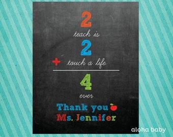 Teacher appreciation printable primary colors