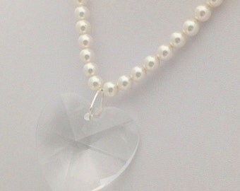 Bridal Puffy Heart Pendant