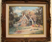 Double Signed Print Marty Bell Laverstoke Lodge 1993 Life Print Lithograph Cottage Large