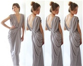 4 Bridesmaids dresses ,Set dresses, Taupe grey dress  ,Maxi Bridesmaid dress