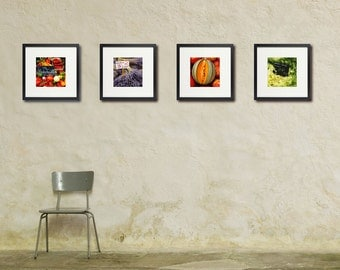 French Market Photos, Chef, Cook, Kitchen Art, Food Photography, Restaurant Art, Set of Four
