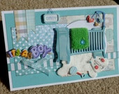 Baby Boy Handmade 3D Greeting Card