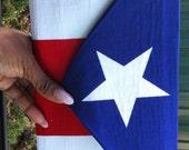 Puerto Rican Flag Clutch