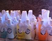 Party Favors Personalized SPA Quality Travel sized Body Wash Lotion Body Joy Pura Gioia Birthday Wedding Baby Fashion Shower