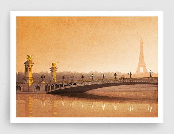 Paris Illustration From Sun To Sun Fine Art By Tubidu On Etsy