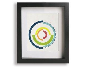 Wonderwall / Oasis - Music Lyric Art Print - modern art, wall decor, wall art, circles, rainbow, typography print, A4, 8x10, 11x14, 16x20