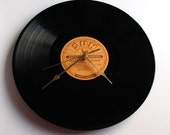 """Jerry Lee Lewis Vinyl Record CLOCK made from recycled 12"""" album,. On the SUN label. Cool retro look..."""