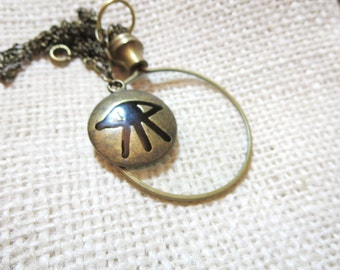 """Magnifying glass necklace-Key Necklace -2"""" Magnifying Jewelry, Fun and Handy. Trendy and Chic."""