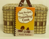 Vintage RV Cookbook for Traveling Cook, For Campers, Vans, Motor Homes, Recipes and Tips by Ferne Holmes, Spiral Bound Soft Cover