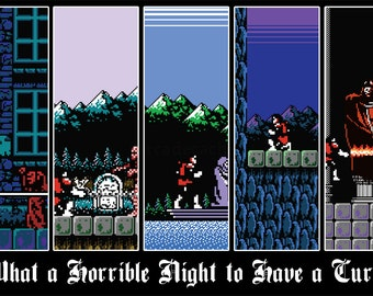 Castlevania Art - Digital Art Print - Simon's Quest Nintendo Tribute