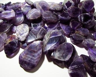 Natural Amethyst Large Briolette Beads 20mm - 50mm