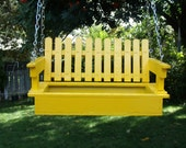 Sunny Yellow Swing Bird Feeder, Rustic, Bird Watching,Bird Lovers,Decorative Feeder, Wild Birds