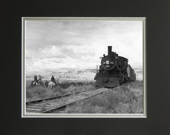 Cowboys and Engines-Railroad Locomotive, that is!!- Limited Edition Restored Prints,Philip C. Johnson Family Collection