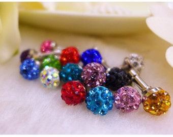 Bling Crystal Ball for iPhone 6 5S 5C 4S iPad ipod and Mobile Cell Smart Phones 3.5mm Anti Dust Cap Earphone Jack Plug