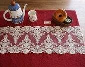 off white lace trim retro embroidery gauze lace fabric trim vintage feeling antique lace trim