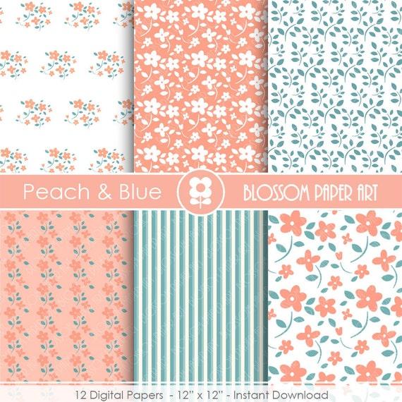 Papeles decorativos flores papeles digitales rosa y - Papeles decorativos para imprimir ...