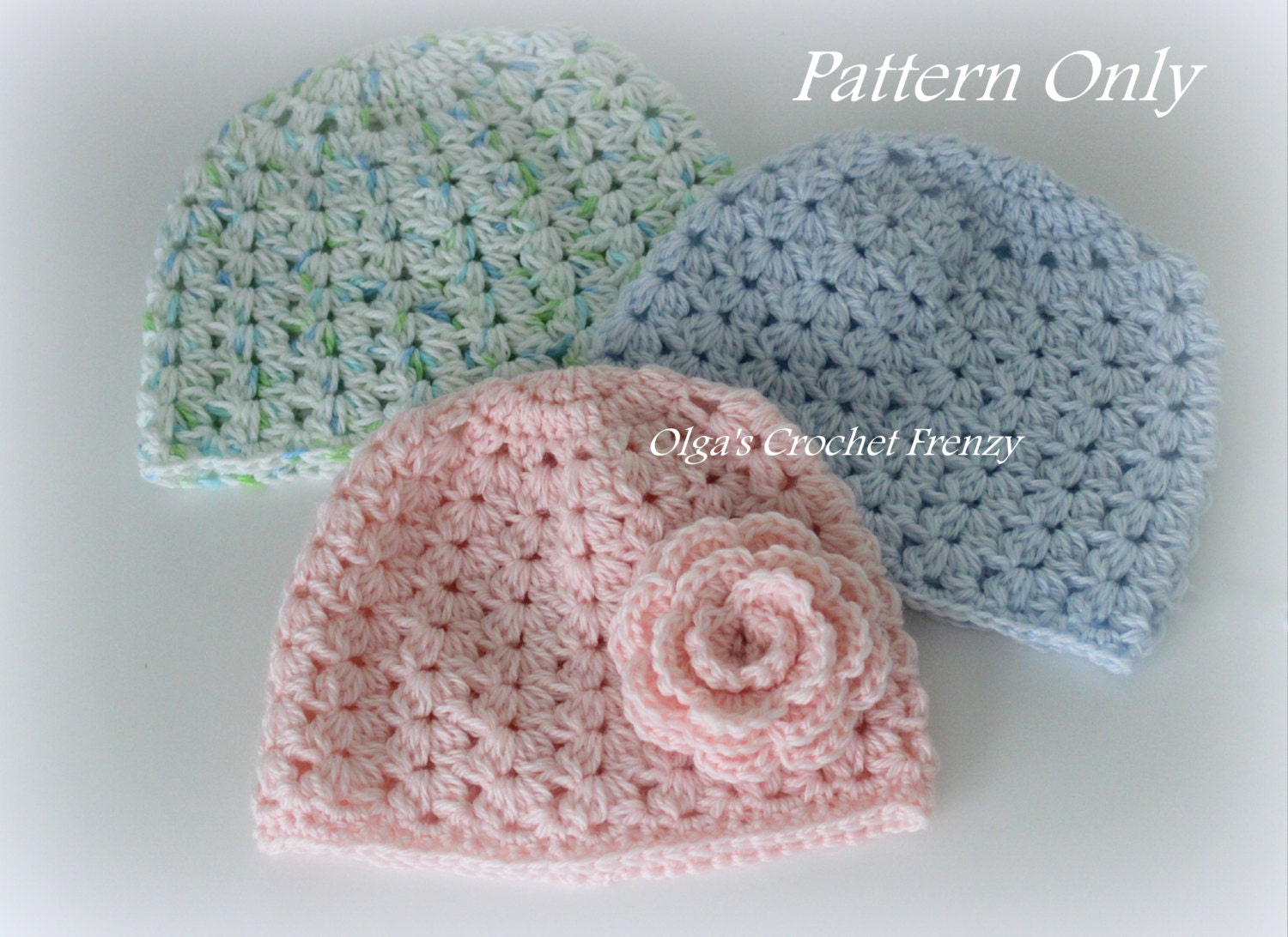 Crochet Baby Hat Patterns 6 Months : Crochet Baby Hat Pattern Size 3 6 Months Very Detailed