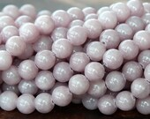 Mountain Jade Beads, Rose Grey, 6mm Round - 15 Inch Strand - eMJR-X05-6