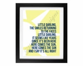 Here Comes the Sun by the Beatles | The Sunshine Collection: Printable No. 3 - INSTANT DOWNLOAD