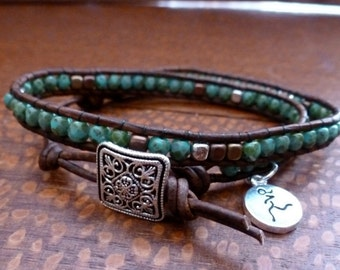 Runner Girl Turquoise Picasso Double Wrap