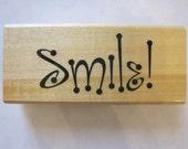 """Anita's Smile ! Rubber Stamp Stencil Size 2.5"""" Length E608s"""