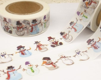Snowman Christmas Washi Tape - T1007