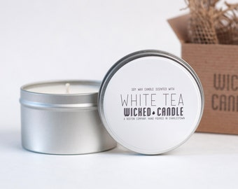 White Tea scented soy wax Wicked Candle