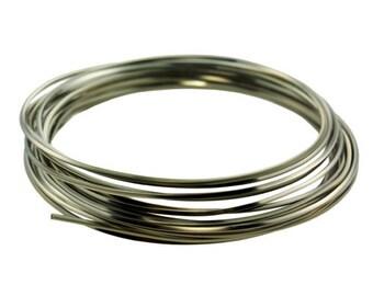 18 GA Square Titanium Color Pro Craft Wire 4 Yards   SALE