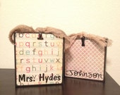 TEACHER GIFT***Personalized Wooden Photo Block