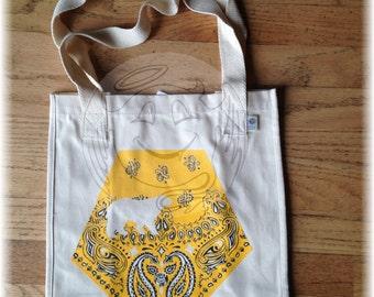 Bear Hanky Yellow Tote Bag Organic Cotton