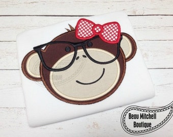 Nerdy Girl Monkey Tshirt or Onesie personalized for free
