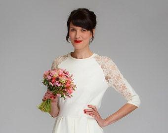 "Weddingdress ""Audrey"",  with fine lace"