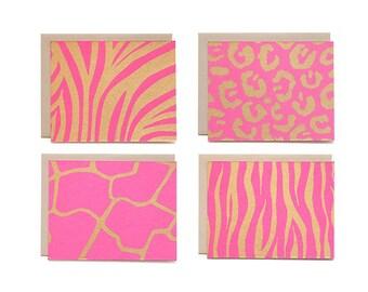 Assorted Animal Print Set - Magenta