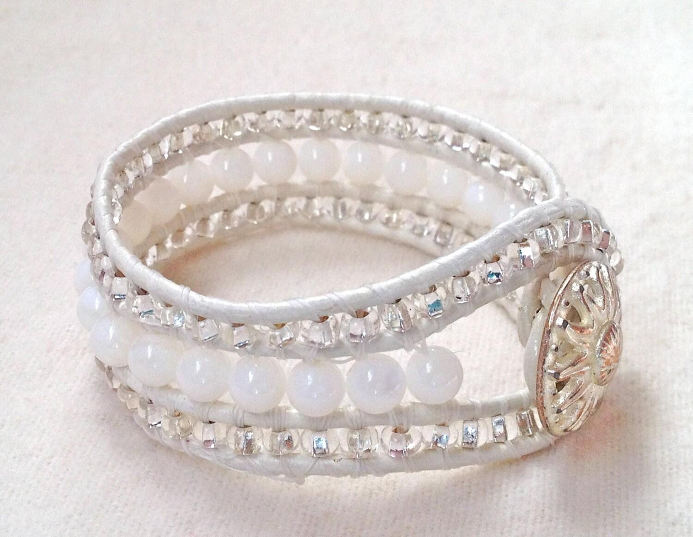 mother of pearl leather cuff bracelet. Black Bedroom Furniture Sets. Home Design Ideas