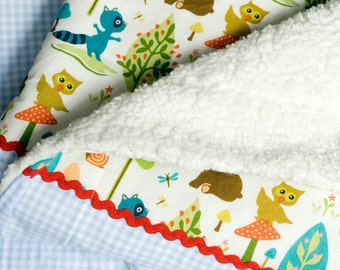Baby blanket - forest friends -