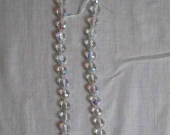 Vintage Czech Aurora Borealis Pressed Glass Necklace