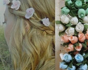 Made to Order Custom Bridesmaids Hair Flowers/Wedding Hair Pins/Rustic Wedding/Shabby Chic /Bridal Accessory/Floral Crown/Boho Chic Wedding
