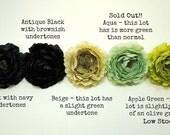 CLEARANCE!!  50% off!! Ruffled Ranunculus Artificial Flowers - Set of TEN