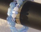 Blue Coil Bracelet