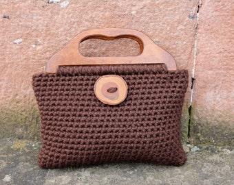 CROCHET PATTERNS for women, purse bag pattern - Big button crochet purse - Listing95