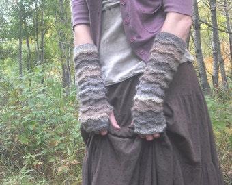 Fingerless Gloves, Arm Warmers, Knit Fingerless Gloves, Wool Fingerless Gloves Knit Wrist Warmers, Mori Girl, Made To Order
