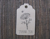 Thank You Tags - Kraft Favor Tags for Bee Themed Parties - ie. Honey Jar Favors (Wedding, Bridal Shower, Baby Shower) - Set of 25