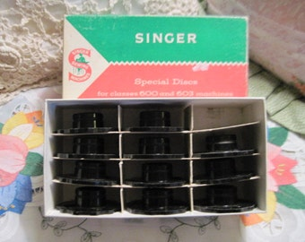 Singer 12 Special Discs for Sewing Machine Accessory, Classes 600 and 603 Sewing Machines Part No 21976 ,Sewing Cams, Sewing, Vintage Sewing