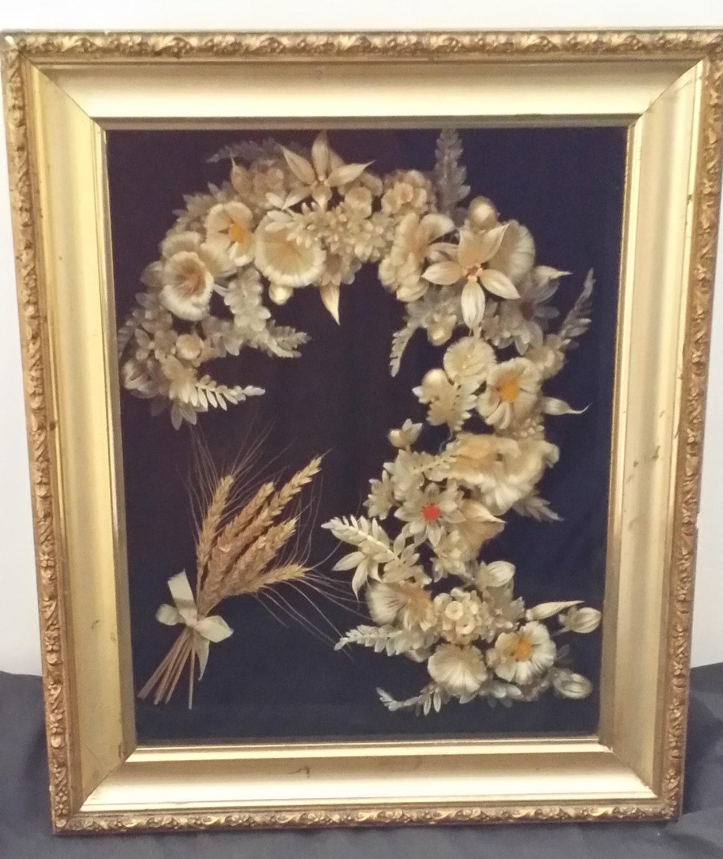 Vintage Wedding Silk Flower Shadow Box Vintage Shadow Box