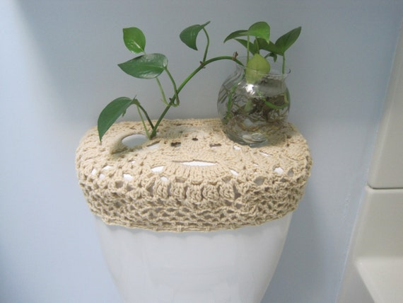 Crochet Toilet Tank Lid Cover Or Toilet Seat Cover By Ytang