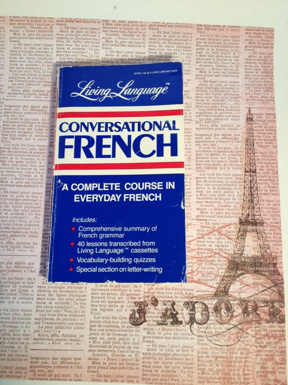 french grammar book vintage conversational french by thebrownpear. Black Bedroom Furniture Sets. Home Design Ideas
