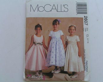 McCalls Pattern 2607 Alicyn Exclusives Girl Dress