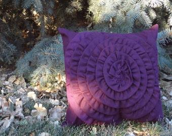 Flower Pillow - Large Flower (Plum)